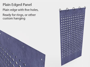 Plain edge felt panels