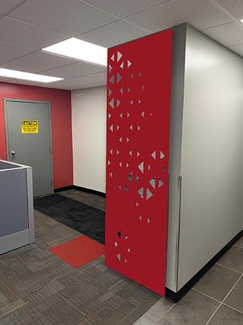 Red Hanging Panels, Single