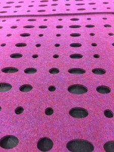 Custom Privacy EcoFelt Panels, Circles and Ovals Pattern
