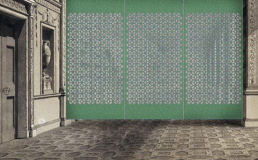 Laser cut panels , Laser Felt  Eco , Circles S in the XVIII century interior .