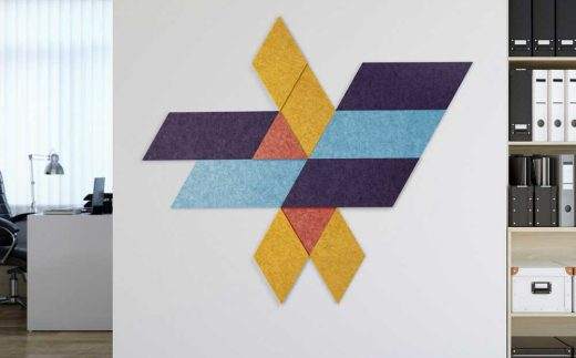 Acoustic Tiles, Parallelogram, Diamonds and Triangles